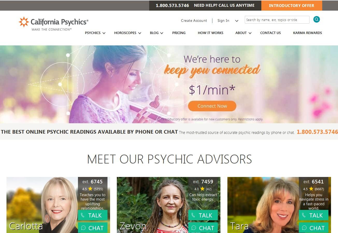 california psychics main page