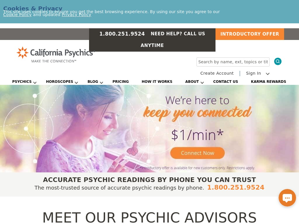 California Psychics Website