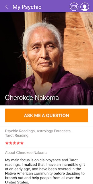 MyPsychic App Psychic Profile Page